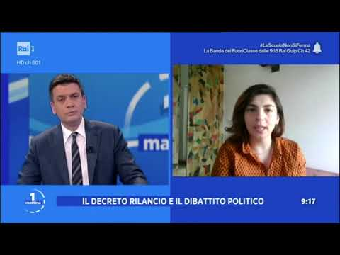 VIDEO: Laura Castelli ospite a Unomattina Rai1 il 15/05/20