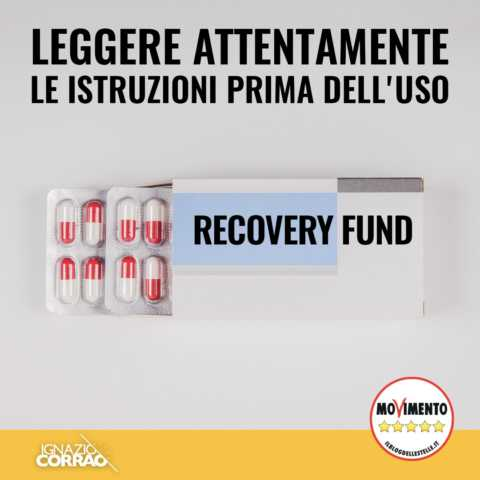 Recovery fund: leggere attentamente le avvertenze