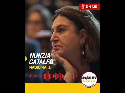 VIDEO: Nunzia Catalfo a Radio Rai 1 – 24/7/2020