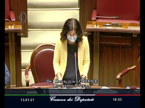 VIDEO: Marialucia Lorefice intervento Aula 13/01/2021