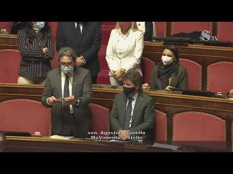 VIDEO: Agostino Santillo (M5S) Intervento aula Senato – 19/1/2021
