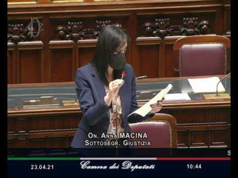 VIDEO: Francesca Anna Ruggiero - Anna Macina Interpellanze urgenti 23/04/2021 - M5S notizie m5stelle.com